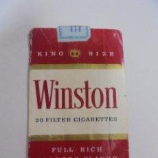 Paquetes de tabaco: PAQUETE DE TABACO. MARCA WINSTON KING SIZE. U.S.A. VACIO. VER FOTOS. Lote 112955123