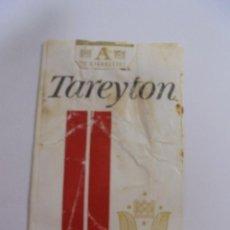 Paquetes de tabaco: PAQUETE DE TABACO. MARCA TAREYTON FILTER. VACIO. VER FOTOS. Lote 112955243