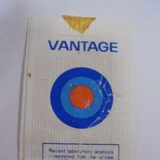 Paquetes de tabaco: PAQUETE DE TABACO. MARCA VANTAGE. VACIO. VER FOTOS. Lote 112955299