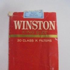 Paquetes de tabaco: PAQUETE DE TABACO. MARCA WINSTON KING SIZE. REAL FLAVOR. VACIO. VER FOTOS. Lote 112955335