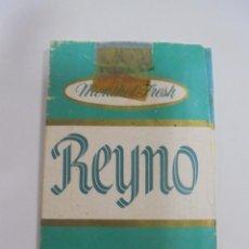 Paquetes de tabaco: PAQUETE DE TABACO. MARCA REYNO. MENTHOL FRESH. VACIO. VER FOTOS. Lote 112955499