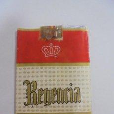 Paquetes de tabaco: PAQUETE DE TABACO. MARCA REGENCIA. TIPO LARGO. VACIO. VER FOTOS. Lote 112955547
