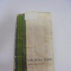 Paquetes de tabaco: PAQUETE DE TABACO. MARCA VIRGINIA SLIMS. MENTHOL FILTER. VACIO. VER FOTOS. Lote 112955683