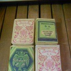 Paquetes de tabaco: ANTIGUOS PAQUETES DE PICADURA TABACO TABACALERA (CUATRO PAQUETES). Lote 113693283