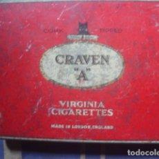 Paquetes de tabaco: CAJA METÁLICA DE CRAVEN A, VIRGINIA CIGARETTES. AÑOS 50. . Lote 114262267