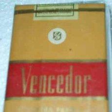 Paquetes de tabaco: VENCEDOR , PAQUETE TABACO ANTIGUO SIN ABRIR ORIGINAL SELLO DEL AGUILA - SIN ADVERTENCIAS. Lote 114351039