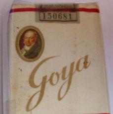 Paquetes de tabaco: GOYA - SELLO AGUILA- PAQUETE DE TABACO ANTIGUO SIN ABRIR, SIN ADVERTENCIAS Y PERFECTO. Lote 114355367
