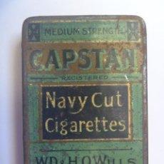 Paquetes de tabaco: PEQUEÑA CAJA METALICA DE CAPSTAN , NAVY CUT CIGARETTES . BRISTOL & LONDON.. Lote 114408459