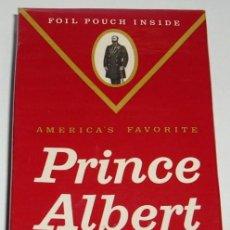Paquetes de tabaco: PAQUETE DE TABACO PRINCE ALBERT- USA- SELLO VENTA EN ESPAÑA-RARO- PERFECTO VER FOTOS. Lote 114587399