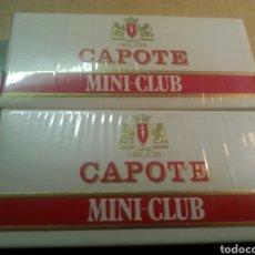 Paquetes de tabaco: 2 CAJETILLAS TABACO HELIOS CAPOTE MINI CLUB. Lote 114960120