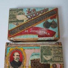Paquetes de tabaco: LOTE DE 2 PAQUETES DE TABACO LA ESCEPCIÓN ( REPÚBLICA DE CUBA ) JOSÉ GENER. Lote 115167751