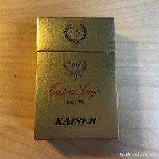 Paquetes de tabaco: PAQUETE DE TABACO VACIO EXTRA LUJO KAISER . Lote 115168983