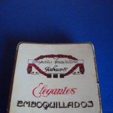 Paquetes de tabaco: (TA-180316)CAJA METALICA COMPAÑIA ARRENDATARIA DE TABACOS - ELEGANTES - EMBOQUILLADOS. Lote 115189975