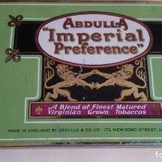 Paquetes de tabaco: CAJA METALICA VACIA DE CIGARRILLOS ABDULLA IMPERIAL PREFERENCE.. Lote 116551551