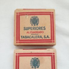 Paquetes de tabaco: ANTIGUOS PAQUETES TABACO SUPERIORES AL CUADRADO. Lote 117196024