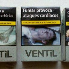 Paquetes de tabaco: 3 PAQUETES DE TABACO SG VENTIL,VACIOS.DE PORTUGAL. Lote 117378371