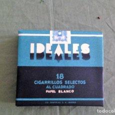 Paquetes de tabaco: IDEALES - TABACALERA S.A - PAQUETE DE TABACO PRECINTADO - ORIGINAL. Lote 171236532