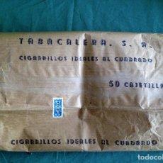 Paquetes de tabaco: EMBALAJE CON SELLOS ORIGINALES DE 50 PAQUETES DE TABACO IDEALES. Lote 117430523