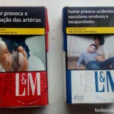 Paquetes de tabaco: 2 PAQUETES DE TABACO CACIOS,L&M. Lote 117673131