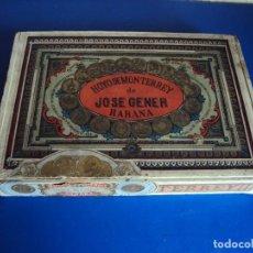 Paquetes de tabaco: (TA-180402)ANTIGUA CAJA HOYO DE MONTERREY DE JOSE GENER _ HABANA - CUBA. Lote 118149807