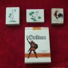 Paquetes de tabaco: PAQUETE DE TABACO CELTAS LARGO Y TRES CAJAS DE CERILLAS. Lote 118238843