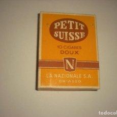 Paquetes de tabaco: PETIT SUISSE 10 CIGARES, CAJETILLA VACIA . LA NAZIONALE , SUIZA. Lote 119963775