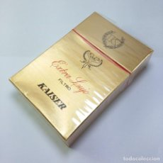Paquetes de tabaco: PAQUETE TABACO SIN ABRIR MARCA KAISER EXTRA LUJO SELLO IMPUESTO AGUILA TABACALERA S A. Lote 120171419