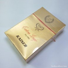 Paquetes de tabaco: PAQUETE TABACO SIN ABRIR MARCA KAISER EXTRA LUJO SELLO IMPUESTO AGUILA TABACALERA S A. Lote 120171439