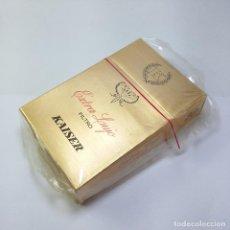 Paquetes de tabaco: PAQUETE TABACO SIN ABRIR MARCA KAISER EXTRA LUJO SELLO IMPUESTO AGUILA TABACALERA S A. Lote 120171587
