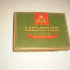 Paquetes de tabaco: MEMPHIS TRADITION , CAJA DE CARTON VACIA , 20 CIGARETTES. Lote 120947115