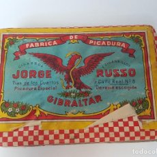Paquetes de tabaco: TABACO JORGE RUSSO ( SIN ABRIR ) GIBRALTAR . Lote 121267615