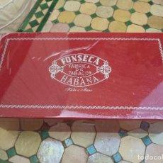 Paquetes de tabaco: IMPRESIONANTE CAJA DE PUROS HABANOS FONSECA CAJA HUMIFICADORA 50 PUROS COMPLETA. Lote 125001714