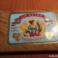 Paquetes de tabaco: PAQUETE DE PICADURA DE TABACO - LA REINA. SUÁREZ Y CRESPO - NUEVA YORK - PRECINTADA. Lote 122681467