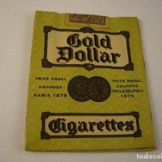 Paquetes de tabaco: GOLD DOLLAR , 20 PIECES, PAQUETE VACIO. Lote 124549595
