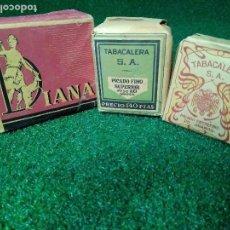 Paquetes de tabaco: LOTE DE ANTIGUOS PAQUETES DE TABACO. Lote 125145479