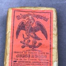 Paquetes de tabaco: EL ÁGUILA IMPERIAL - JORGE RUSSO GIBRALTAR - FÁBRICA DE TABACOS SUAVE -. Lote 126534320