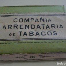 Paquetes de tabaco: (TC-123) PAQUETE TABACO COMPAÑIA ARRENDATARIA DE TABACOS CIGARRILLOS COMUNES HEBRA NUEVO SIN ABRIR. Lote 126795943