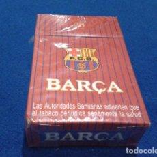 Paquetes de tabaco: PAQUETE DE TABACO F.C. BARCELONA ( BARCA ) NUEVO SIN DESPRECINTAR DE LOS 90 . Lote 126848047