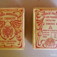Paquetes de tabaco: PAQUETE PICADO TABACO EXTRAFINO COMPAÑIA ARRENDATARÍA DE TABACOS SIN ESTRENAR .NUEVO .AGUILA FRANCO. Lote 127117059