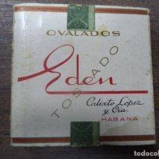 Paquetes de tabaco: PAQUETE DE TABACO DE CARTON. EDEN. CALIXTO LOPEZ Y CIA, HABANA. MEDIDAS : 8 X 8. VER FOTOS.. Lote 128219943