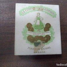 Paquetes de tabaco: PAQUETE DE TABACO DE CARTON. LA COMPETIDORA GADITANA. MEDIDAS : 8 X 8. VER FOTOS.. Lote 128220387