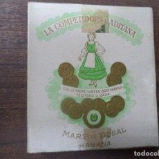 Paquetes de tabaco: PAQUETE DE TABACO DE CARTON. LA COMPETIDORA GADITANA. MEDIDAS : 8 X 8. VER FOTOS.. Lote 128220479