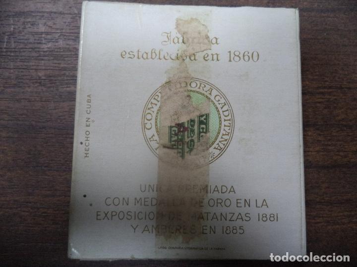 Paquetes de tabaco: PAQUETE DE TABACO DE CARTON. LA COMPETIDORA GADITANA. MEDIDAS : 8 X 8. VER FOTOS. - Foto 3 - 128220479
