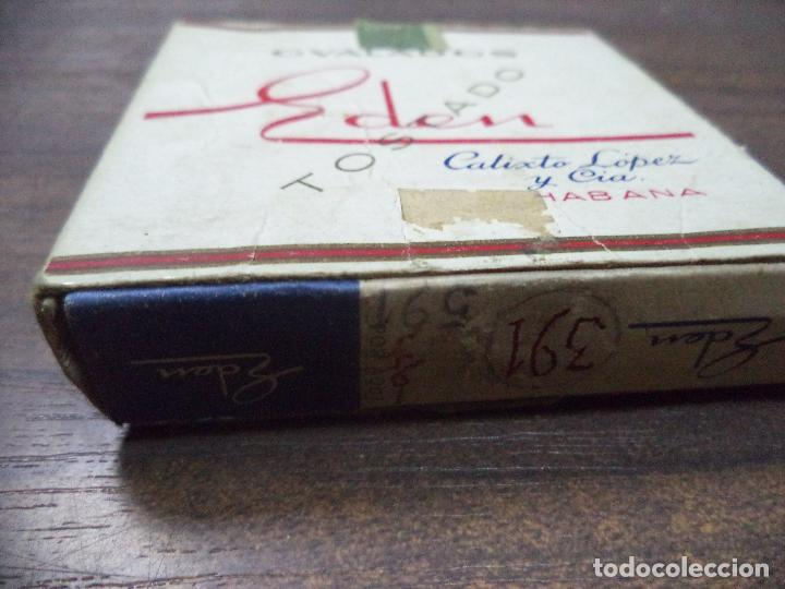 Paquetes de tabaco: PAQUETE DE TABACO DE CARTON. EDEN, CALIXTO LOPEZ Y CIA. HABANA. MEDIDAS : 8 X 8. VER FOTOS. - Foto 2 - 128220639