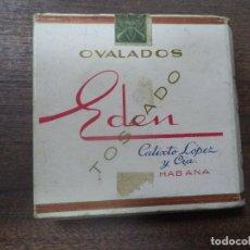 Paquetes de tabaco: PAQUETE DE TABACO DE CARTON. EDEN, CALIXTO LOPEZ Y CIA. HABANA. MEDIDAS : 8 X 8. VER FOTOS.. Lote 128220839