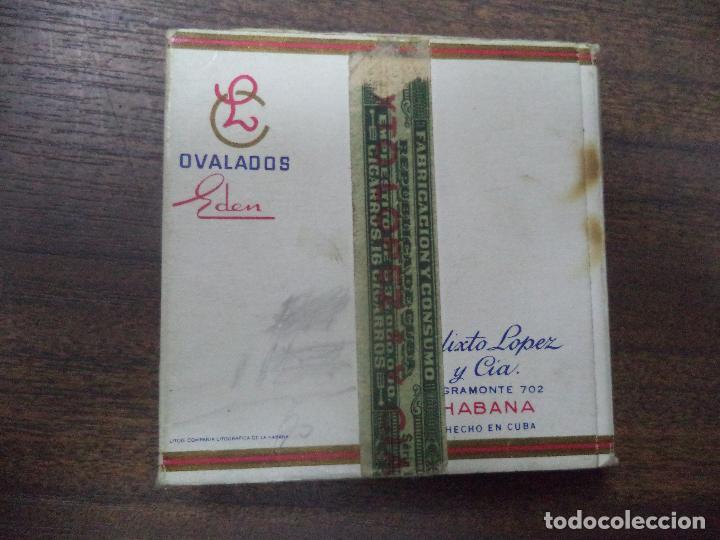 Paquetes de tabaco: PAQUETE DE TABACO DE CARTON. EDEN, CALIXTO LOPEZ Y CIA. HABANA. MEDIDAS : 8 X 8. VER FOTOS. - Foto 3 - 128220839