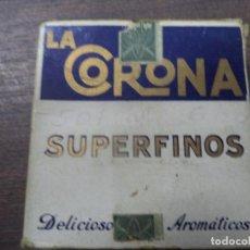Paquetes de tabaco: PAQUETE DE TABACO DE CARTON. LA CORONA. MEDIDAS : 8 X 8. VER FOTOS.. Lote 128221111