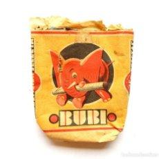 Paquetes de tabaco: PAQUETE DE TABACO CIGARRILLOS BUBI TABACALERA AÑOS 30. Lote 128585491