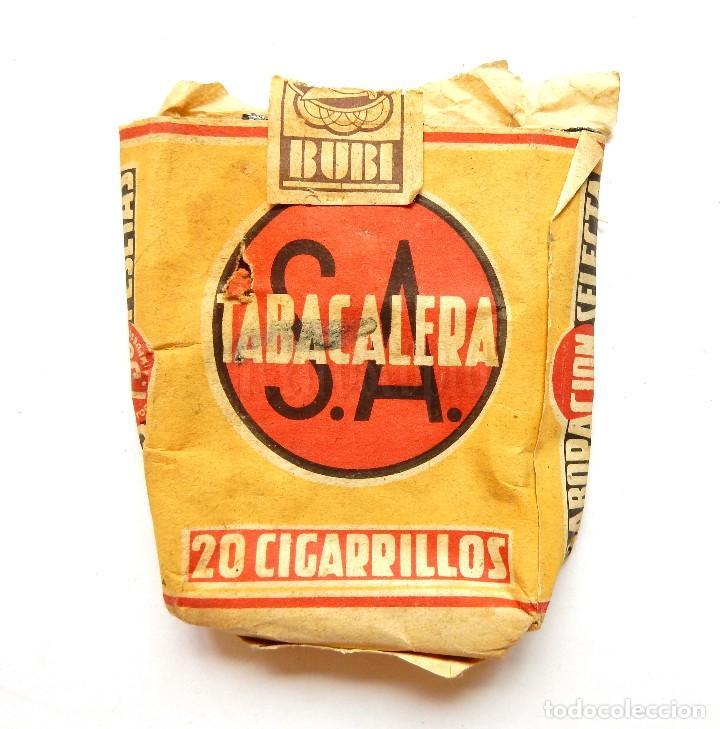 Paquetes de tabaco: PAQUETE DE TABACO CIGARRILLOS BUBI TABACALERA AÑOS 30 - Foto 2 - 128585491