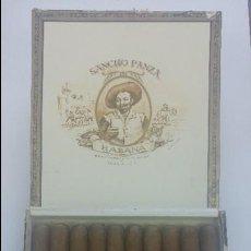 Paquetes de tabaco: ANTIGUA CAJA DE CIGARROS SANCHO PANZA CUESTA Y COMPAÑIA CUBA HABANA 10 CORONAS GIGANTES. Lote 129261727